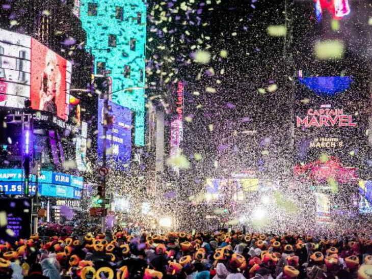 नया साल / दुनियाभर में जश्न की  तस्वीरें
