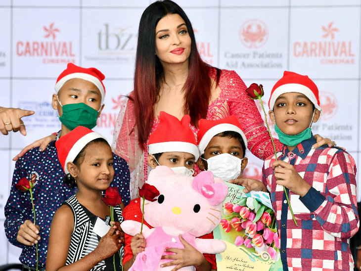 ऐश्वर्या / कैंसर पीड़ित बच्चों के साथ क्रिसमस